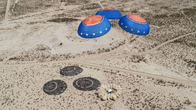 Aterrizaje de prueba del New Shepard