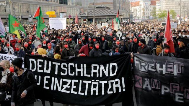 Акция 1 мая в Берлине