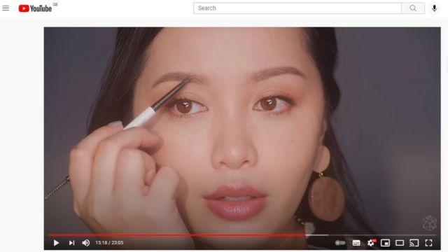 A screenshot from a Michelle Phan video
