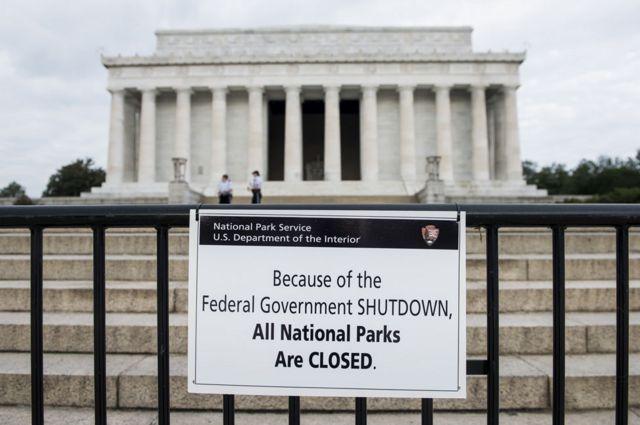 2013년 셧다운 링컨 기념관