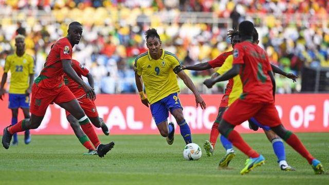 La star Gabonaise Aubameyang bien pris en charge par des joueurs Guinéens