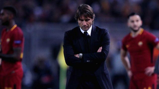 أنطونيو كونتي المدير الفني لنادي تشيلسي الانجليزي لكرة القدم