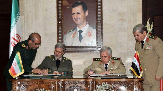 وزرای دفاع ایران و سوریه