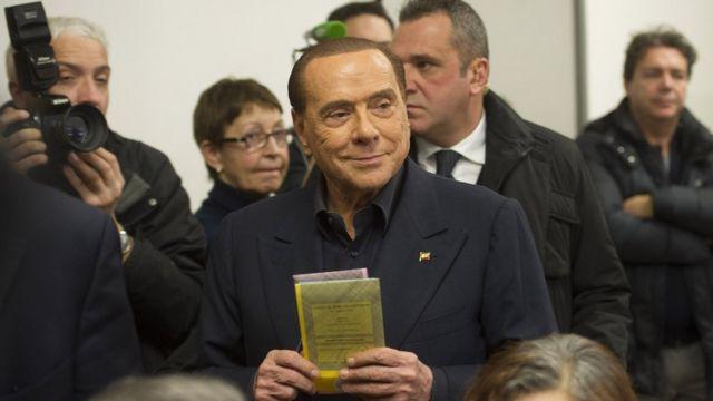 Silvio Berlusconi em 04/03/2018