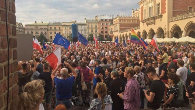 Акция протеста против судебной реформы
