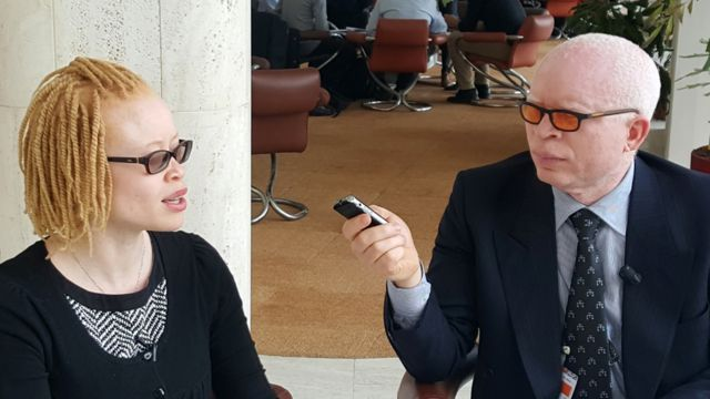 Stephane at work, interviewing the UN Special representative