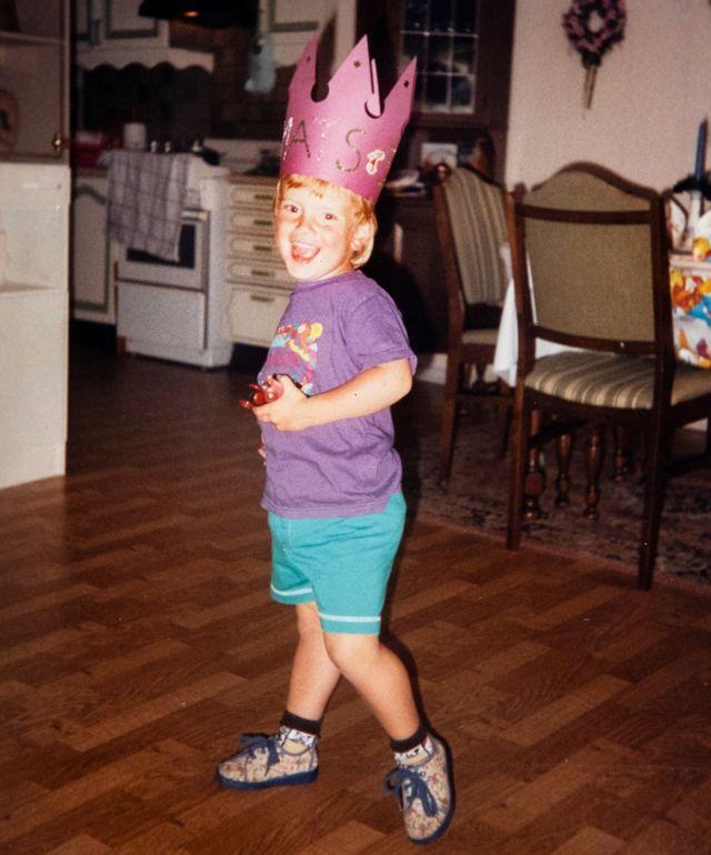 Mats en su cuarto cumpleaños en 1993