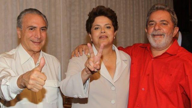 Temer, Dilma e Lula