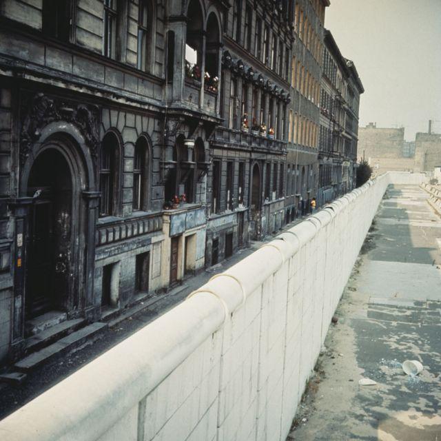 Muro de Berlim por volta de 1970