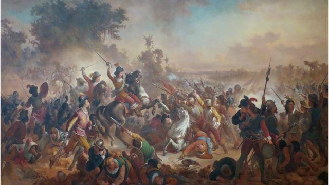 Quadro de Victor Meirelles de 1879 retrata Batalhas dos Guararapes