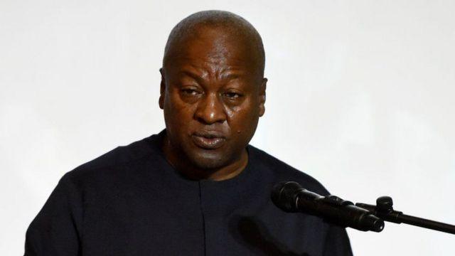 John Mahama wabaye Perezida wa Ghana kugeza mu 2016, yatsinzwe bwa kabiri na Bwana Akufo-Addo