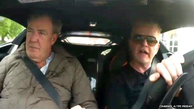 Jeremy Clarkson gives Chris Evans some tips on Top Gear presenting style