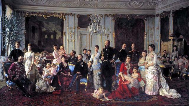 Кристиан IX с семьей. Работа Лаурица Туксена.
