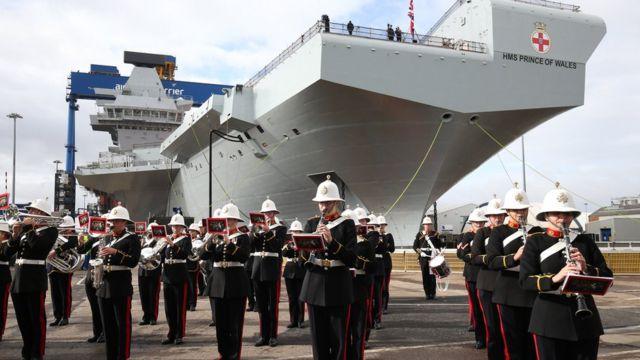 Lễ đặt tên cho Hàng không mẫu hạm HMS Prince of Wales vào tháng 9/2017 tại quân cảng Rosyth, Scotland.