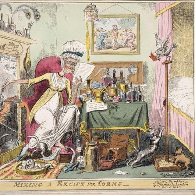 Ilustração de receita de remédios caseiros