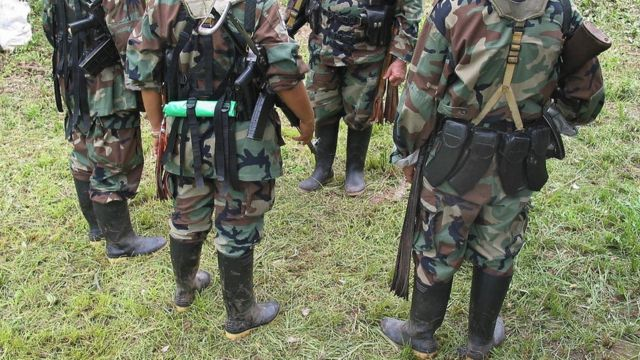 Combatientes de las Farc en una foto de archivo.