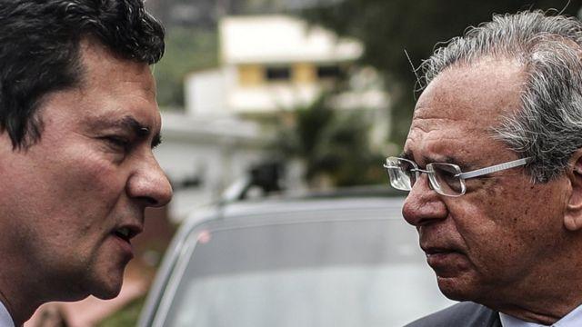 Sergio Moro e Paulo Guedes no Rio, antes do encontro em que foi selada entrada do juiz no futuro governo