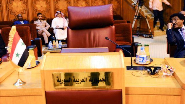 مقعد سوريا في جامعة الدول العربية لا يزال خاليا