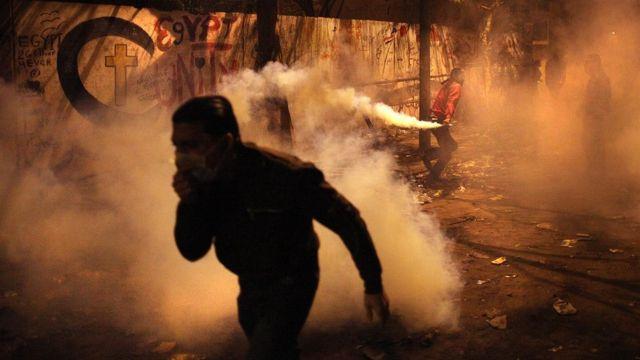 Protesta en la plaza Tahrir, Egipto, en 2011.