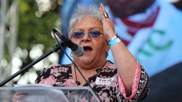 Imelda Daza, excandidata a la vicepresidencia con la plancha de Rodrigo Londoño.