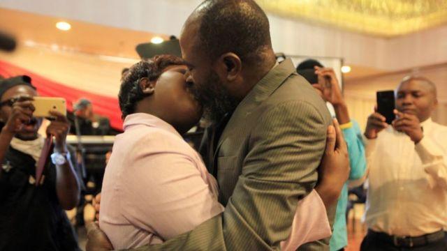 Zimbabwean MP Joseph Chinotimba and wife, Vimbai