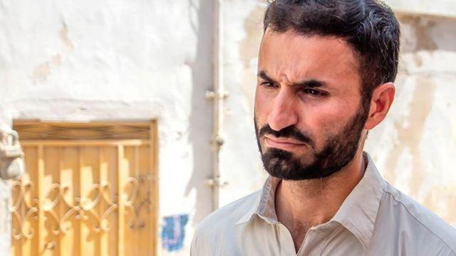 Sceptical father in Baldia Town, Pakistan