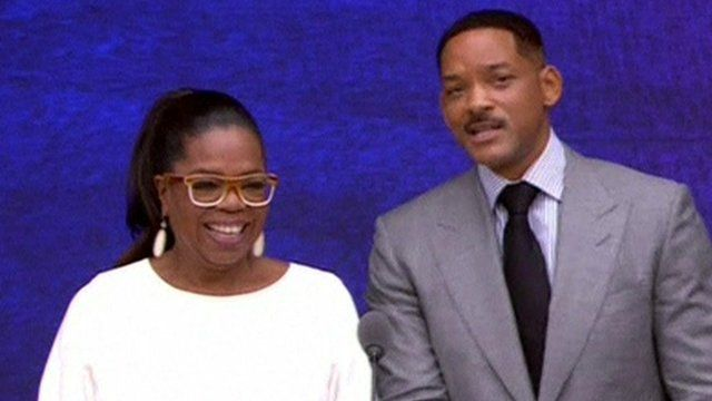 Oprah Winfrey and Will Smith
