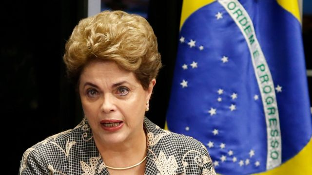 Dilma Rousseff habla ante el Senado