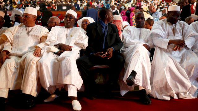 A ranar Talata ne manyan mutane suka halarci bikin rantsar da shugaban kasar Mali Ibrahim Boubakar Keita.