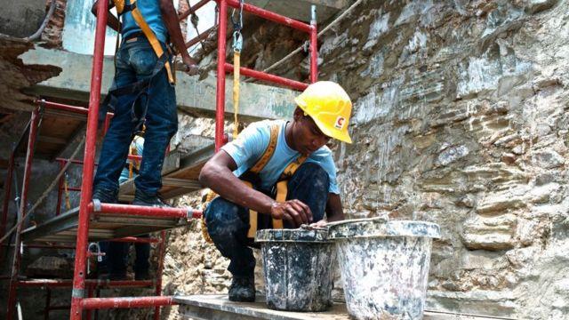 Trabajadores en Panamá