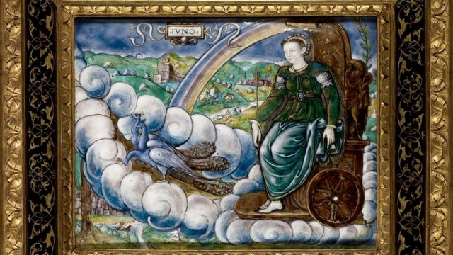 Allegory of Catherine de Medici as Juno, by the French artist Leonard Limosin (circa 1505 - 1575,1577).