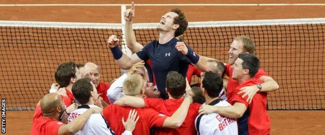10回目の優勝を決めた英国はデビス杯優勝回数でフランスを超え1位になった