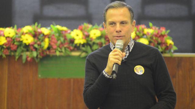 João Doria durante palestra em São Paulo