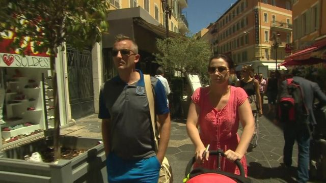 Paul and Rebecca Gordon witnessed lorry attack in Nice.