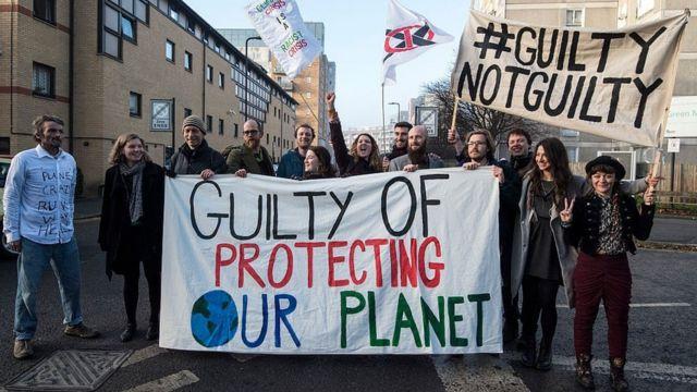 Una protesta contra el cambio climático