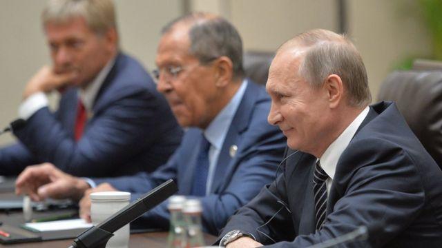 Песков, Лавров и Путин