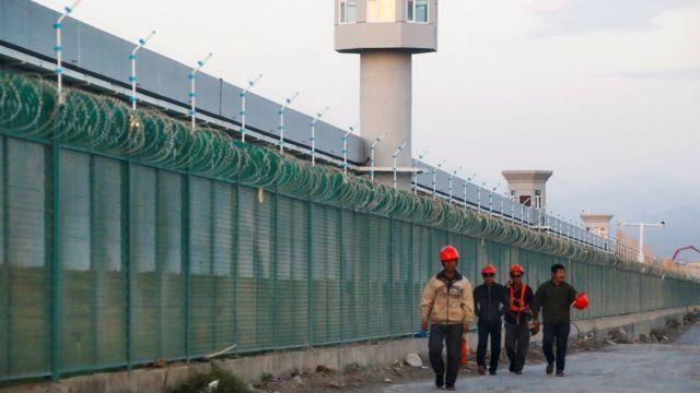 Campo de detenção para minorias na região de Xinjiang, em 4 de setembro de 2018.