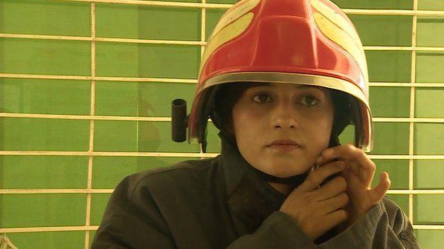 Meet Pakistan's first female fire fighter