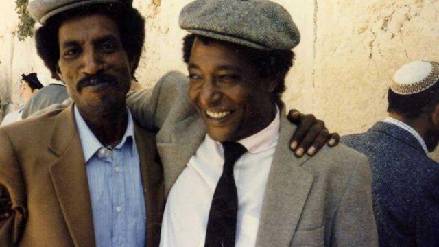 Ferede Aklum (levo) i lider etiopskih Jevreja Baruh Tegegne u Jerusalimu