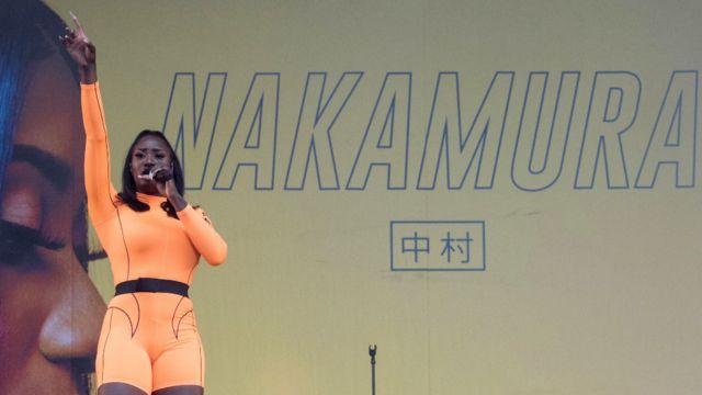Aya Nakamura performing in France in 2019