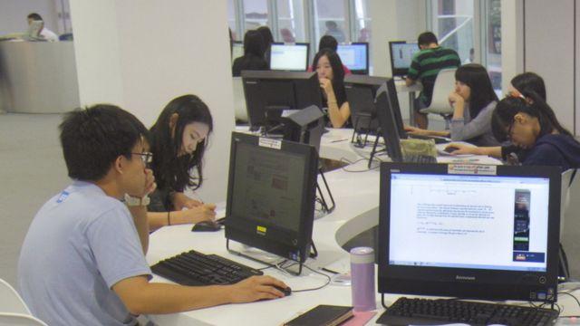 ဟောင်ကောင်တက္ကသိုလ်တစ်ခုရဲ့ စာကြည့်တိုက်