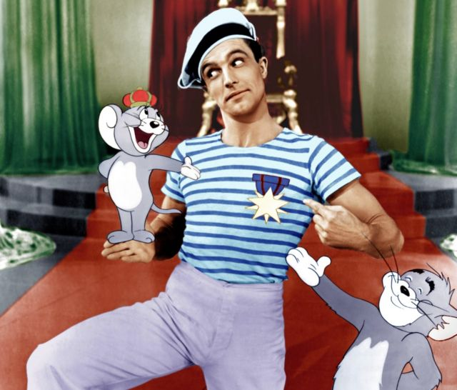 Gene Kelly with Tom and Jerry