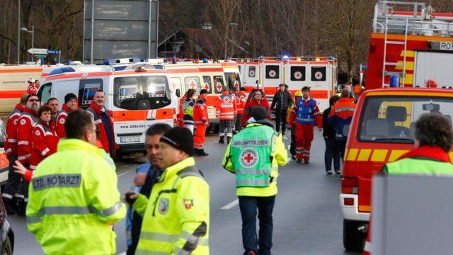 事故現場はオーストリア国境に近い