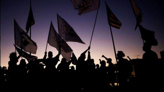 Protesto contra o presidente Jair Bolsonaro em Brasília, em junho