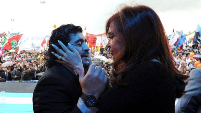 Maradona y Cristina Kirchner
