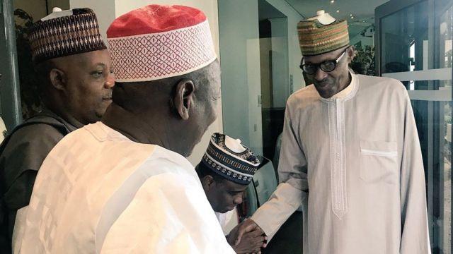 Shugaba Buhari ya gana da wasu gwamnoni gabanin tafiyarsa Amurka