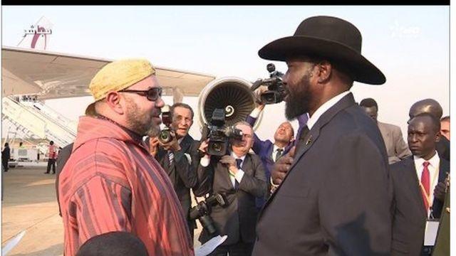 Mohammed VI a été accueilli à Juba par Salva Kiir, président du plus jeune pays du continent africain.
