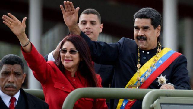 Nicolás Maduro y su esposa, Cilia Flores.