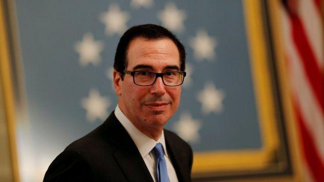 U.S. Treasury Secretary Steven Mnuchin at a White House reception in September