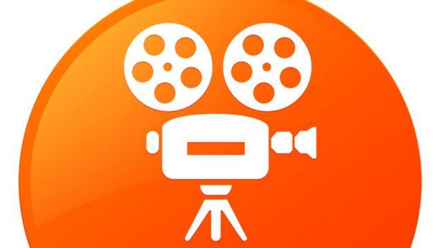 Dibujo con un ícono que identifica el cine.